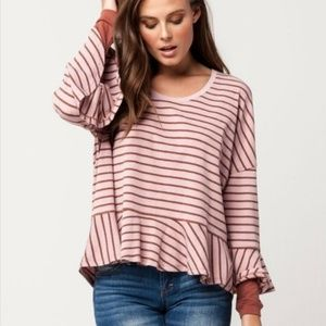 NWT We the Free People Long Sleeve Top Pullover M